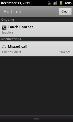 The Android Missed Call Notification Is Notified To Notifications Bar When Incoming A